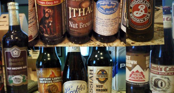 Collection of brown ales