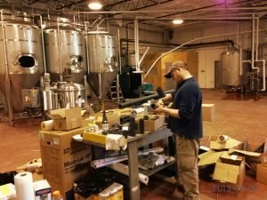 Rick Sobotka of Great South Bay Brewing working on his new brewery in Bay Shore, New York