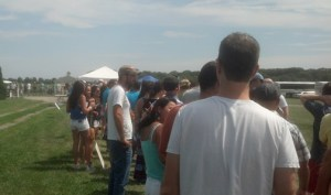 Lines at the 2013 North Fork Craft Beer BBQ & Wine Festival