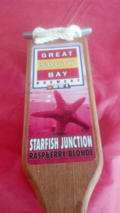 Great South Bay Brewery's Starfish Junction tap handle