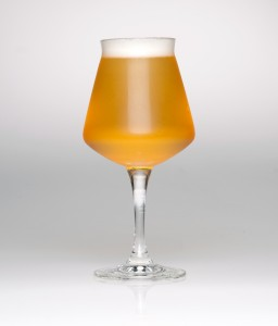 *TeKu* glass filled with amber-colored beer
