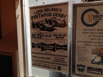 Long Ireland Brewery Pintwood Derby poster