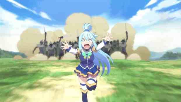 Konosuba anime aqua running