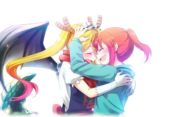 Kobayashi-and-tohru-anime-girls