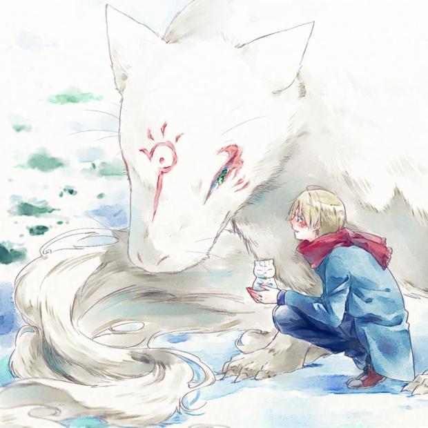 Natsume and Madara in snow