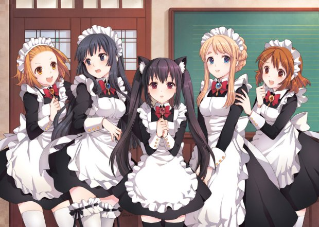 maid cafe anime