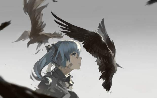 vocaloid-hatsune-miku-birds-crow-wallpaper