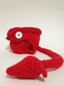 Knitted Devil diaper cover pattern