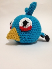 Crocheted Blue Angry Bird Pattern