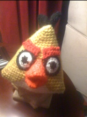 Crocheted Yellow Angry Bird Pattern
