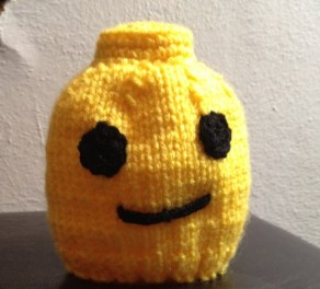 Knitted lego newborn hat pattern