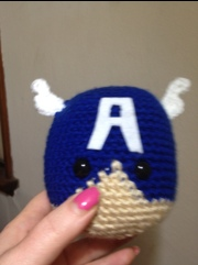 Captain America Crocheted head