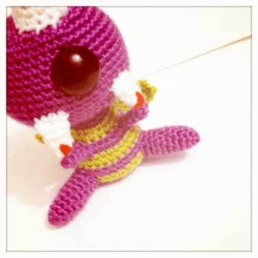 Crocheted One Eyed One horned flying purple people eater pattern