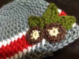 Ohio State Buckeyes Crocheted baby hat pattern