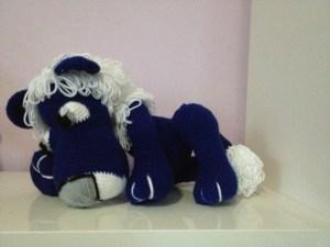 Crochet Plush Blue Lion