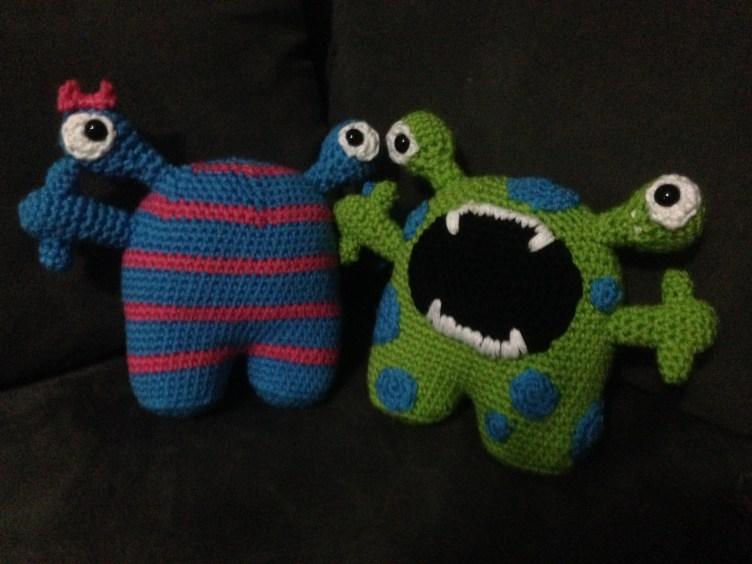 Crocheted monsters