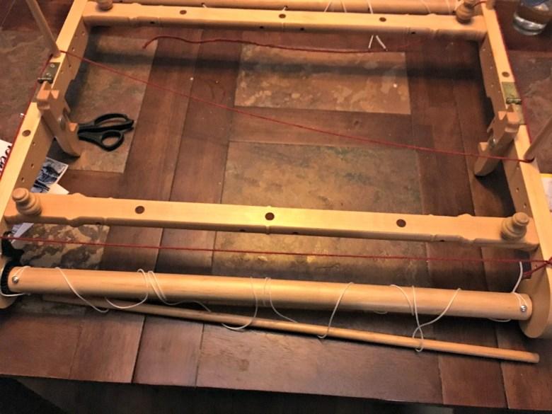 Wapring board for rigid heddle loom