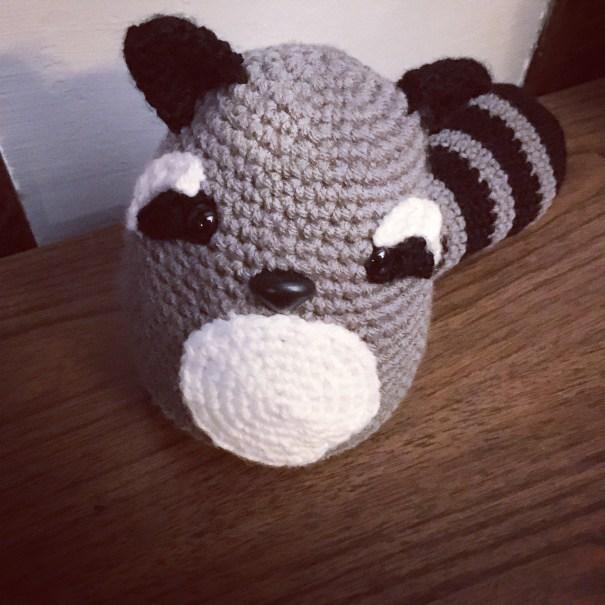 Free Crochet Pattern for a Raccoon