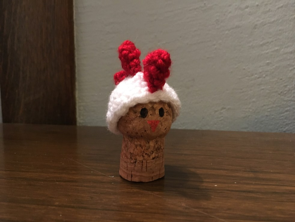 Crochet Chicken ornament