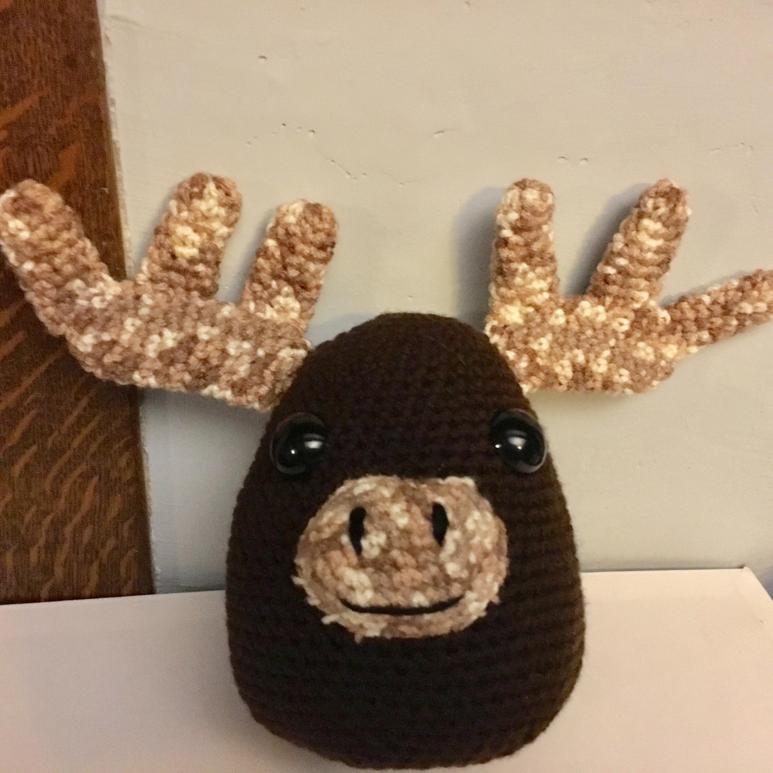 Melvin Moose – Free Crochet Pattern