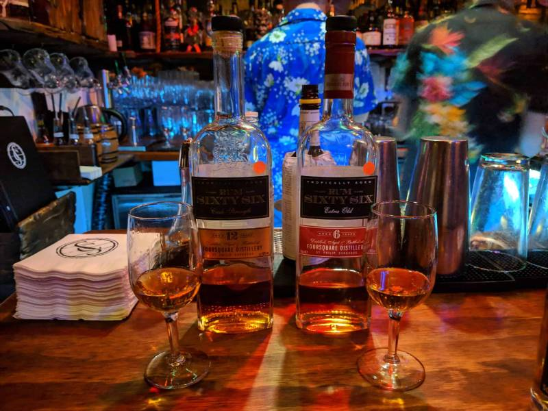 Rum Sixty Six 12 year (left) and Rum Sixty Six 6 year (right), Foursquare Distillery