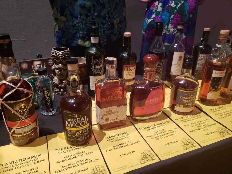 Many bottles of rum