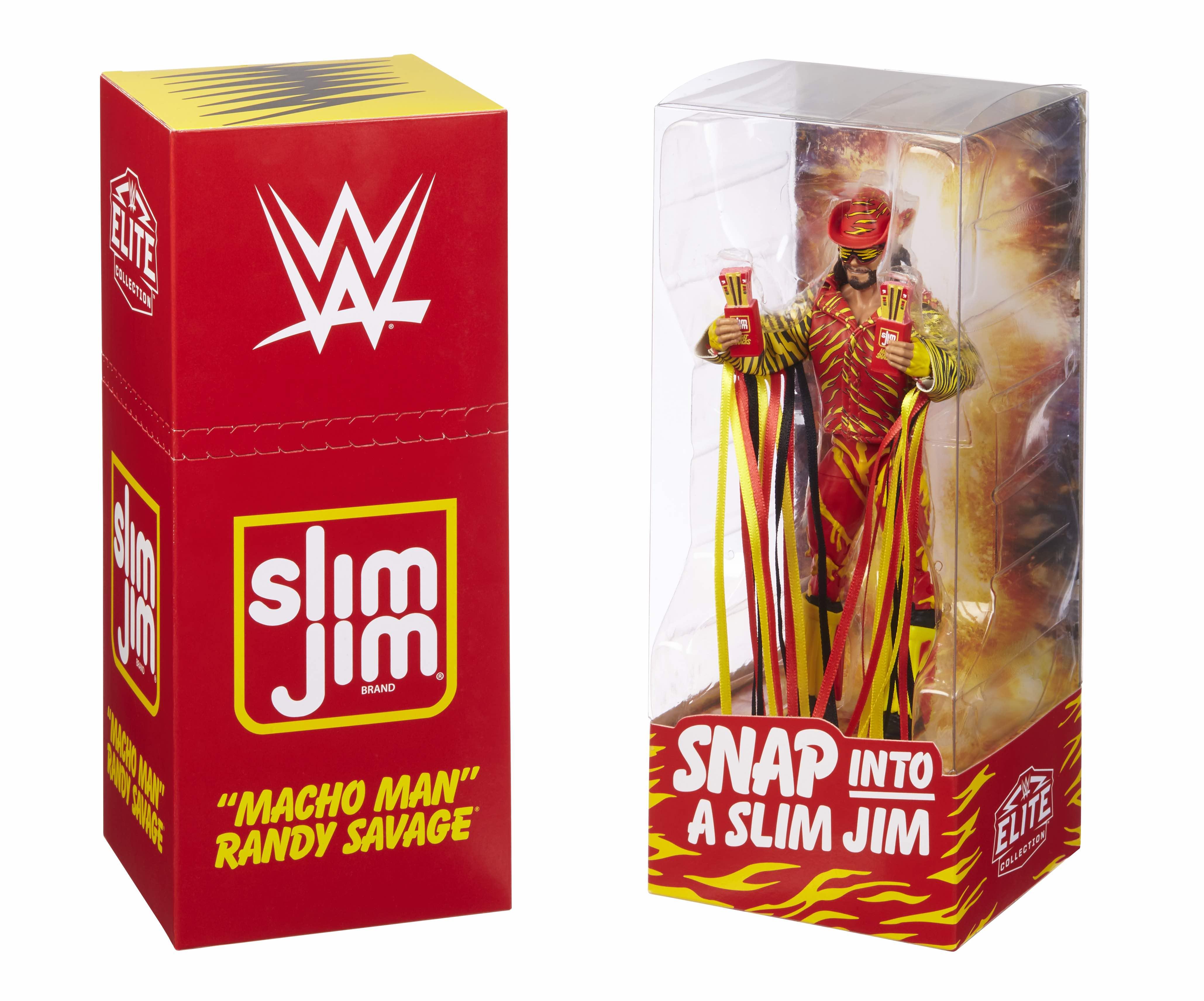 WWE SDCC Exclusive Slim Jim Macho Man Randy Savage Figure Nouvelle.