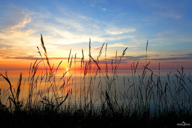 Андома-гора. Закат на Онежском озере