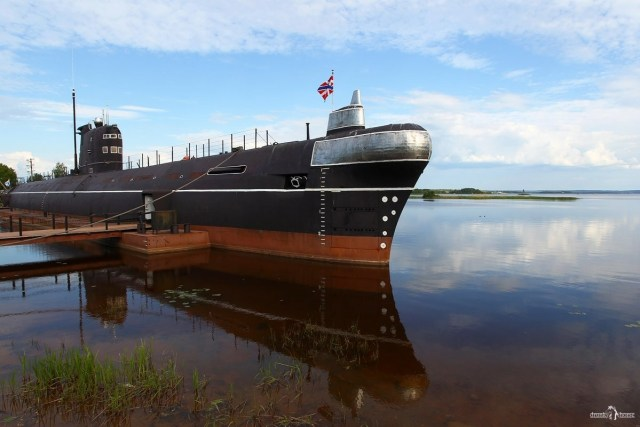 Подводная лодка в Вытегре. Б-440