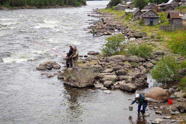 Река Умба. Старая Умба. Рыбаки
