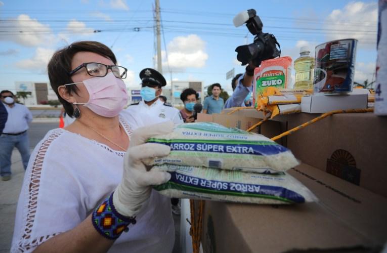 Arranca programa de apoyo alimentario en la Colosio y Nicté Ha: Laura Beristain