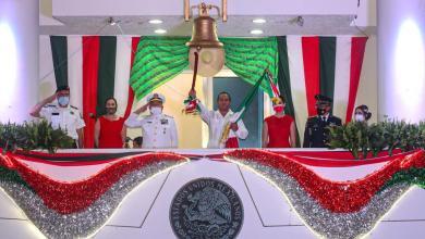 """Photo of Encabeza Juan Carrillo histórico """"Grito"""" de Independencia en Isla Mujeres"""