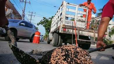 Photo of Programa intensivo de bacheo y limpieza de calles en Solidaridad tras paso de huracán Delta