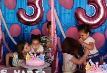 Photo of VIDEO COMPLETO: niña que sopla la vela de cumpleaños de su hermana