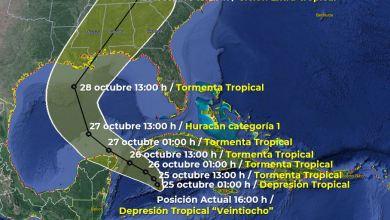 "Photo of Se ha formado la Depresión Tropical ""Veintiocho"" frente a costas de Quintana Roo"