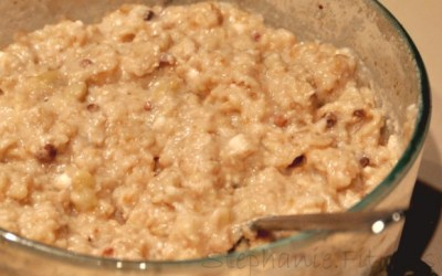 BANANA RUM CAKE BAKED PROTEIN OATMEAL {Bulking Version}