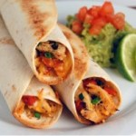 Healthy Chicken and Roasted Red Pepper Taquitos