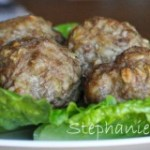 Garlic and herb stuffed turkey meatballs