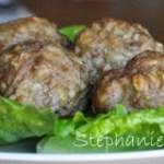 Garlic and herb stuffed turkey meatballs