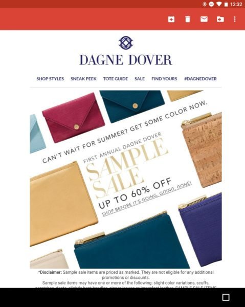 Dagne Dover Sample Sale