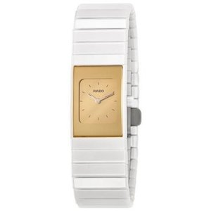 Rado Ceramica Watch in White & Gold on sale now + 15% cash back at Ashford