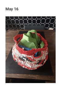 DIYs: The Basket-Bag I Crocheted with Plarn