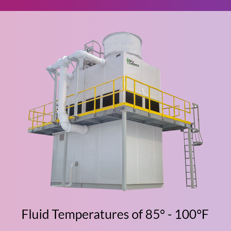 Evaporative Cooling Towers for Fluid Temperatures of 85-100F