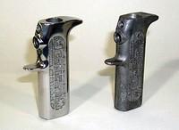 Pistol Grip hardware finished by centrifutgal barrel finishing