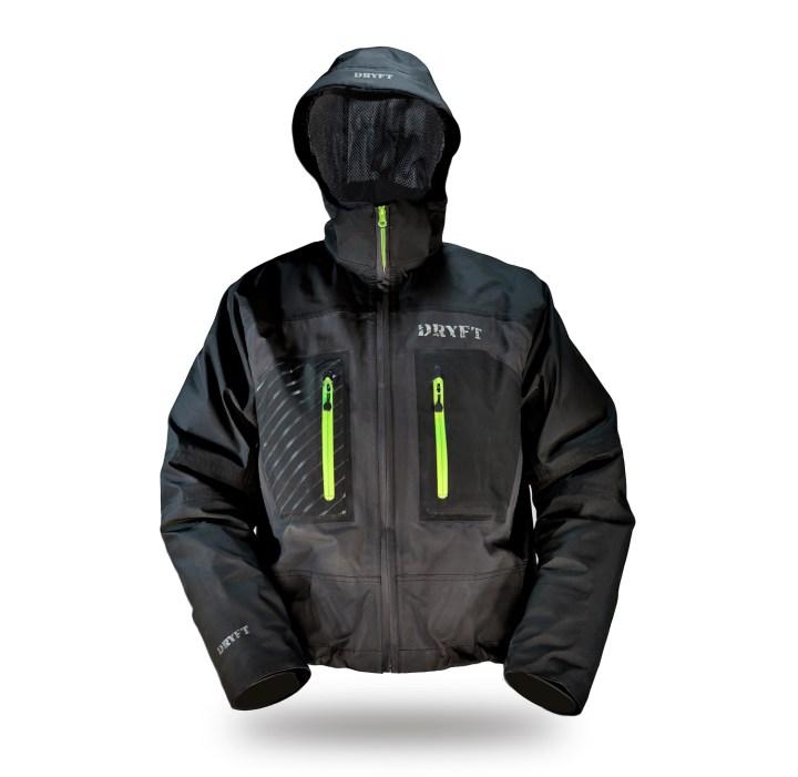 DRYFT Primo wading jacket front hood