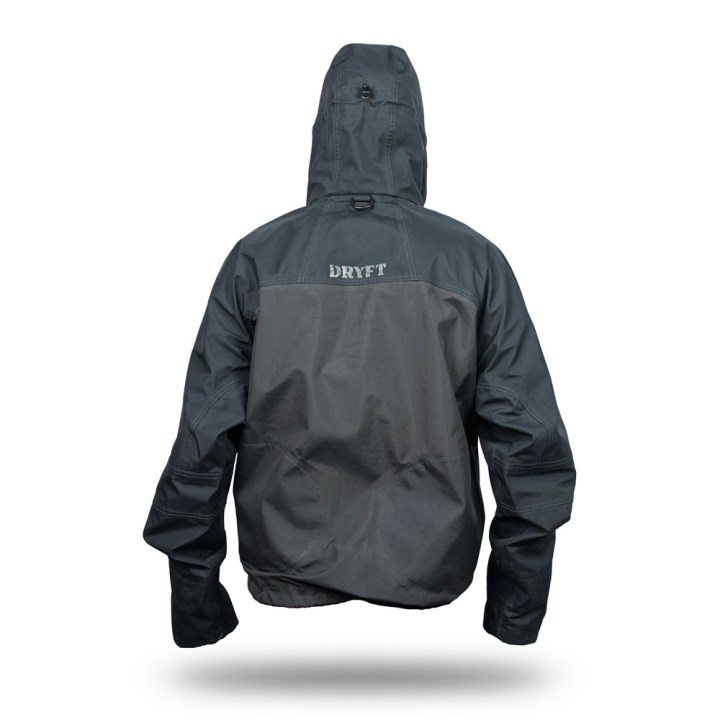 DRYFT Primo wading jacket hood up
