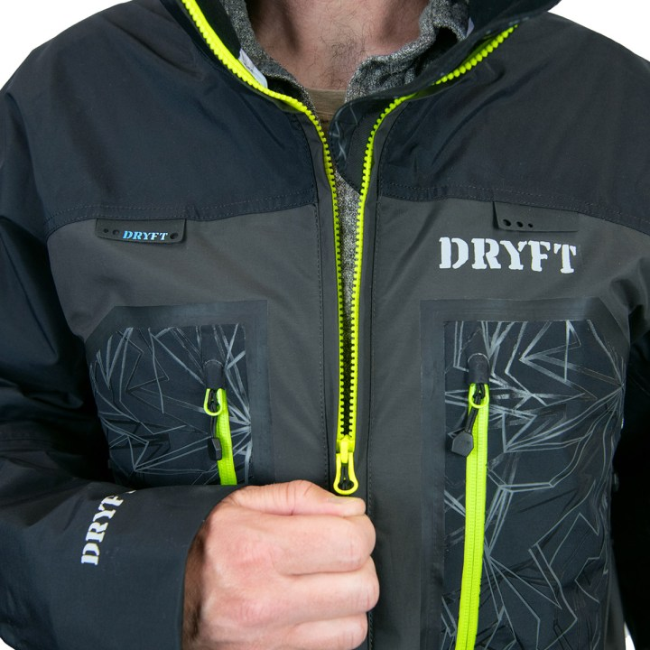DRYFT Primo Wading jacket zipper