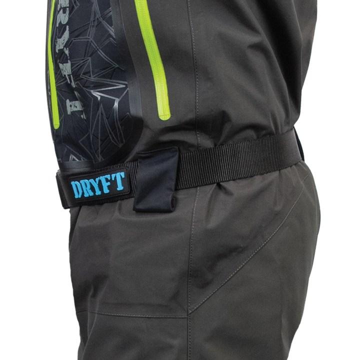 dryft Primo Zip GD wader side belt loops