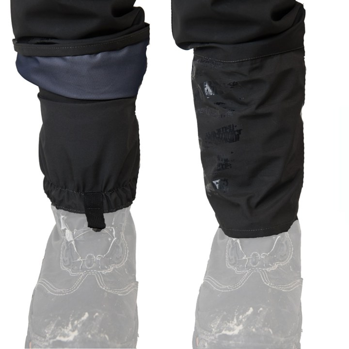 DRYFT Session wading pants side by side gravel guards