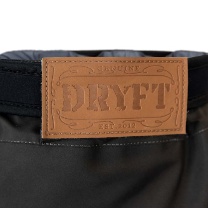 DRYFT Session wading pants back detail leather patch